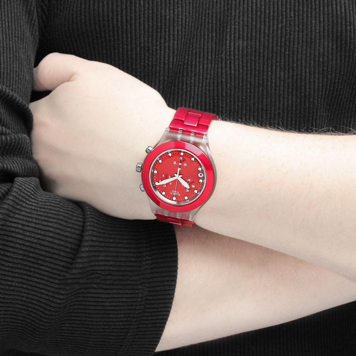 ساعت مچی سواچ قرمز
