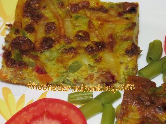کوکو لوبیا سبز (تبریزی)