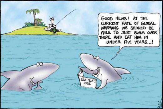 global warming happy sharks - گرمای جهانی کوسه های خوشحال