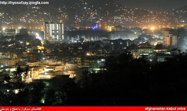 عکس کابل درشب