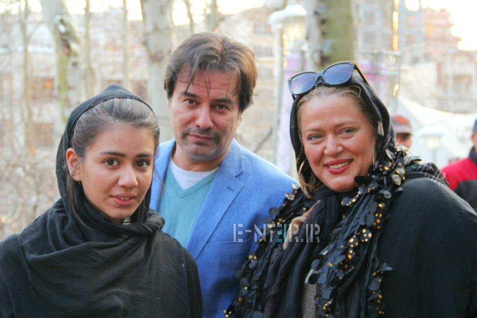 عکس شخصی و جدید بهاره رهنما و همسرش پیمان قاسم خانی و دخترش پریا