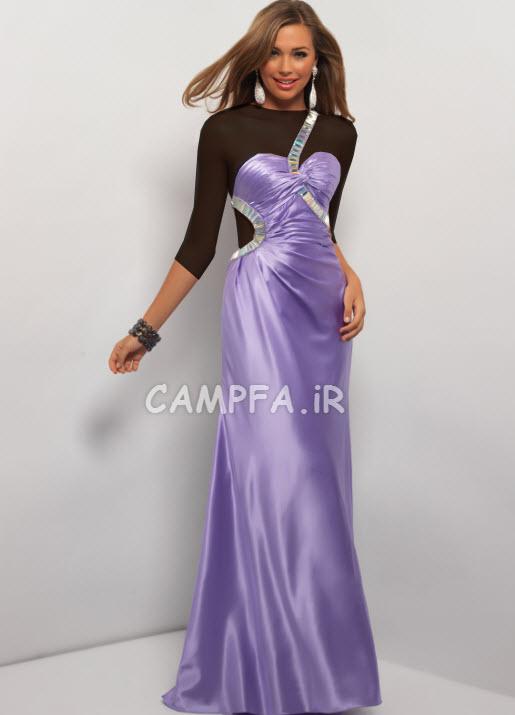 مدل لباس مجلسی ساده و بلند 2013