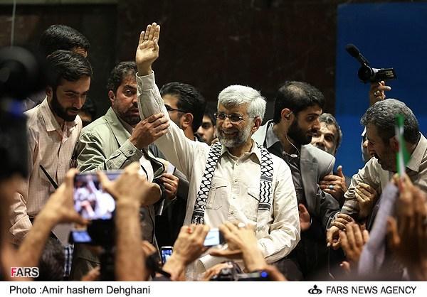همایش انتخاباتی دکتر جلیلی در ورزشگاه شهید شیرودی