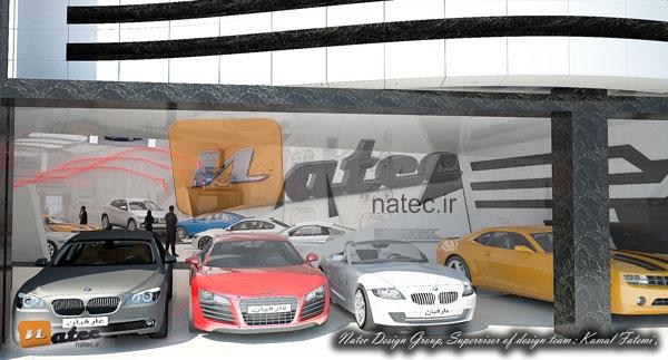 طراحی و اجرای گالری اتومبیل در اصفهان