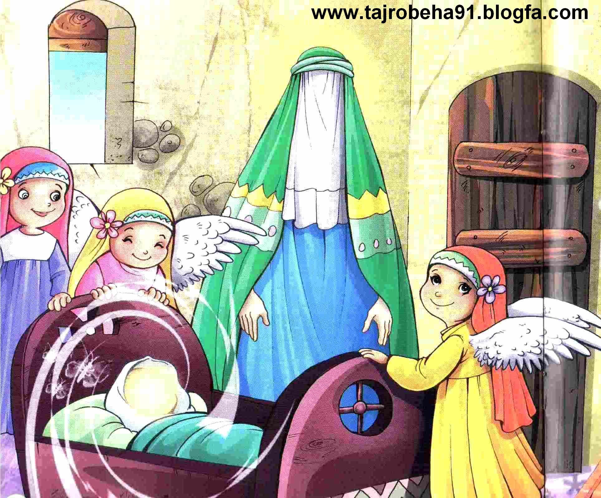 تصویر مذهبی کودکانه  میلاد امام حسین ع