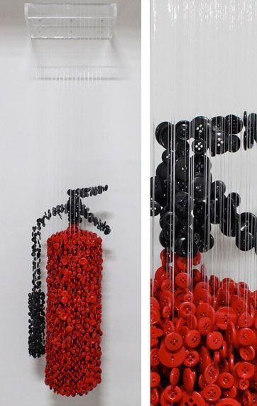 مطالب داغ:مجسمه های هنری ساخته شده از دکمه و نخ!
