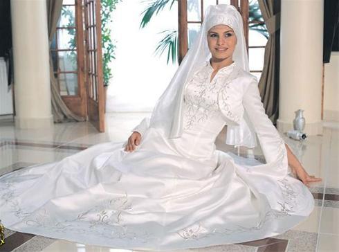 مدل لباس عروس اسلامی سری1