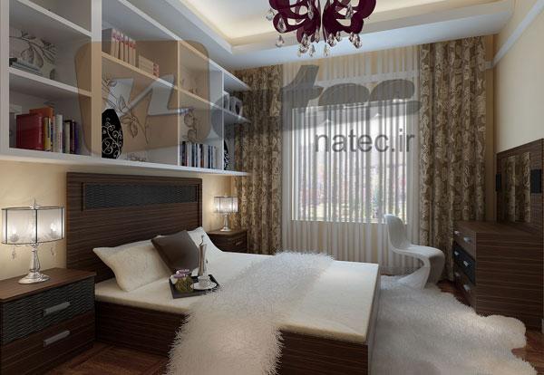 نمونه کار طراحی اتاق خواب دانشجویی