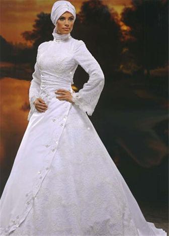 مدل لباس عروس اسلامی سری2
