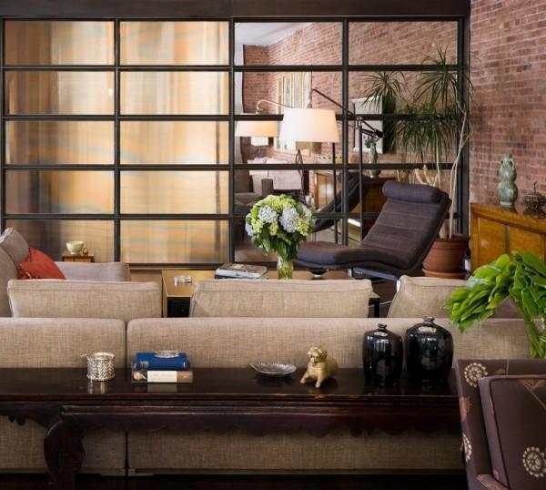 طرح آپارتمانی با دیوارهای آجری