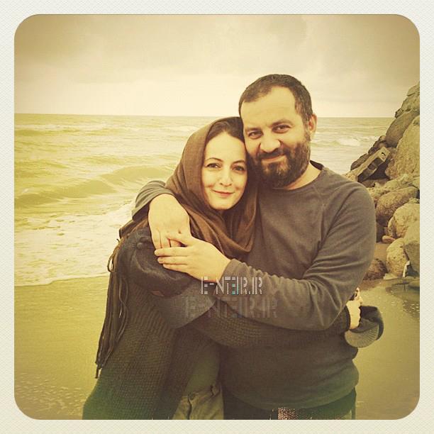 عکس شخصی شقایق دهقان و همسرش