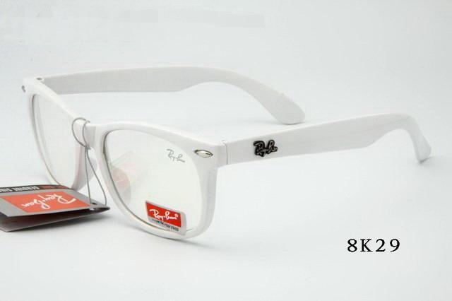 خرید عینک ویفری فریم سفید شیشه شفاف