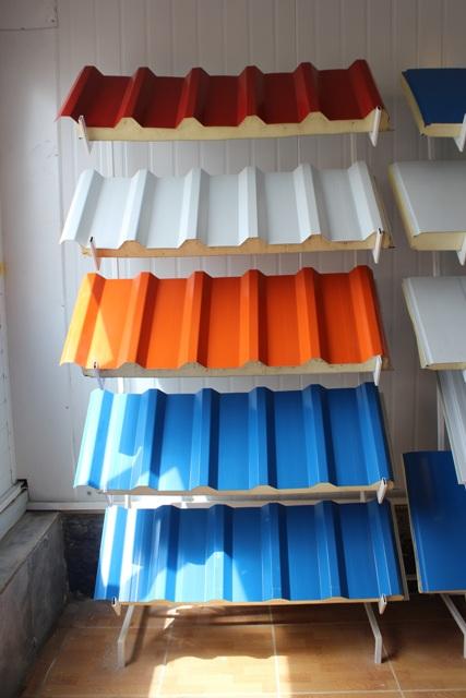 نمونه ساندویچ پانل تولید شده در رنگ های مختلف