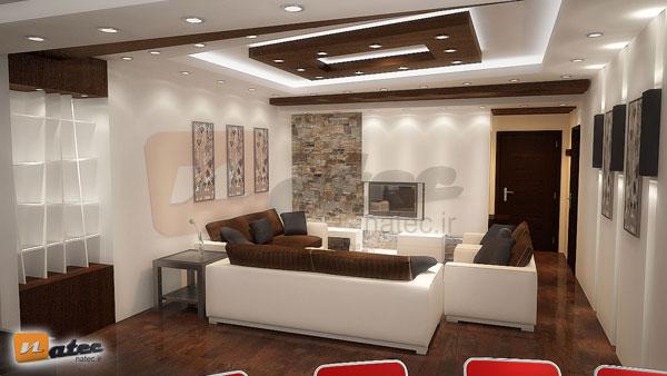 نمونه کار طراحی منزل مسکونی از گروه طراحی ناتک (نشیمن)