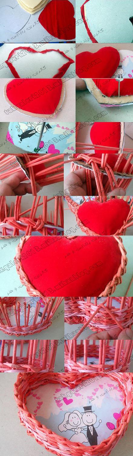 اموزش حنا به شکل کیک دو طبقه گ----الری زیب----ایی و ه----نر=آموزش كاردستی بدلیجات شینیون - حصیربافی به شکل قلب
