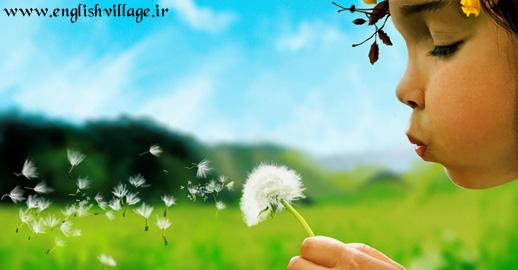 make wish girl blow dandelion - آرزو فوت دختر قاصدک