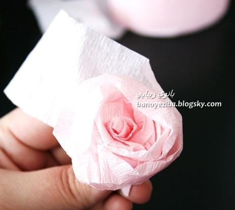 گل رز کاغذ کشی