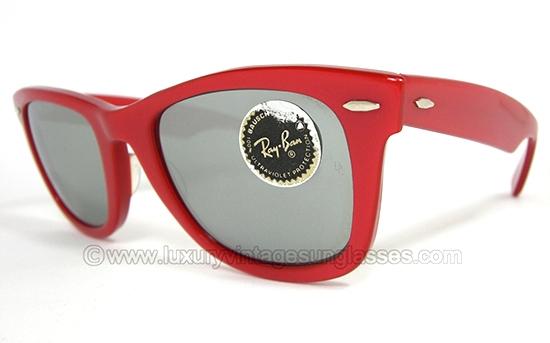 خرید عینک ریبن ویفری شیشه دودی قرمز