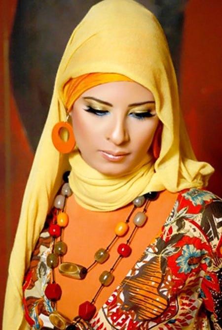 مدلهای جدید بستن شال به سبك زنان عربی تركی