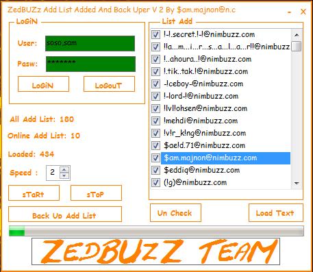 ZedBUzZ Add List Added And Backuper V2 Fixed Bug Addded