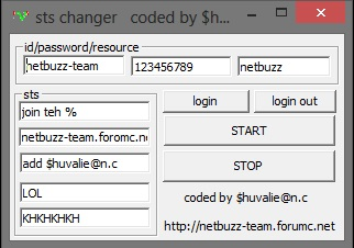 sts changer coded by $huvalie@n.c STS_CHANGER