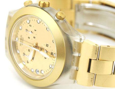 ساعت سواچ طلایی