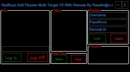 Badbuzz Add Flooder Multi Target V3 With Remote Vpsssss
