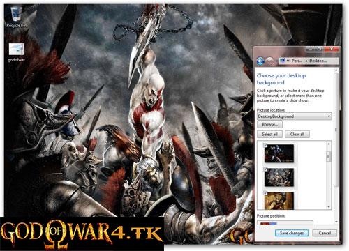 تم جدید و زیبای God of War - ویندوز 7