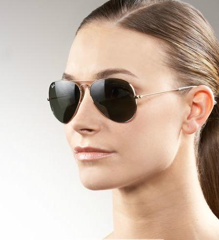 عینک rayban-3025-طلایی