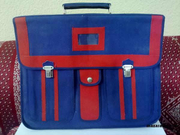 کیف قدیمی مدرسه-لوازم التحریر قدیمی