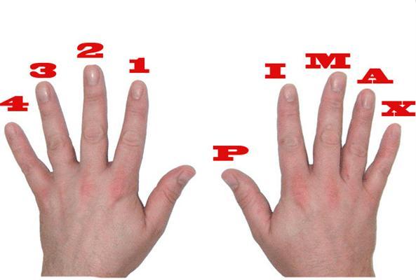 اسم و شماره انگشتان دست چپ و راست در گيتار