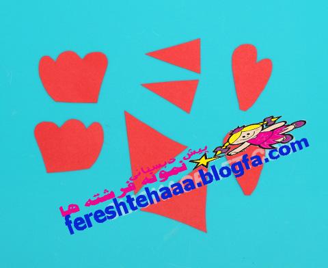 خروس با کاموا پیش دبستانی سه ستاره فرشته ها - کاردستی خروس با بشقاب ...