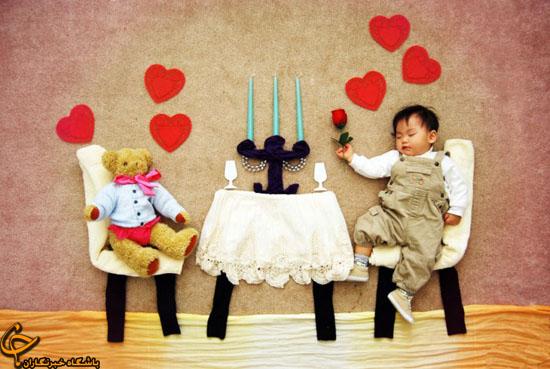 عکس عاشقانه یک کودک عاشق