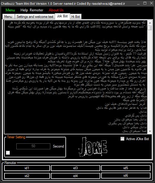 Chatbuzz Team Mini Bot Server named.ir Version 1.0 by rasol@n.c and rasolahwazi@n.c 546546546