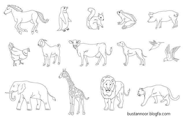 نقاشی پلنگ اهو بوستان نور - شعر کودکانه حیوانات