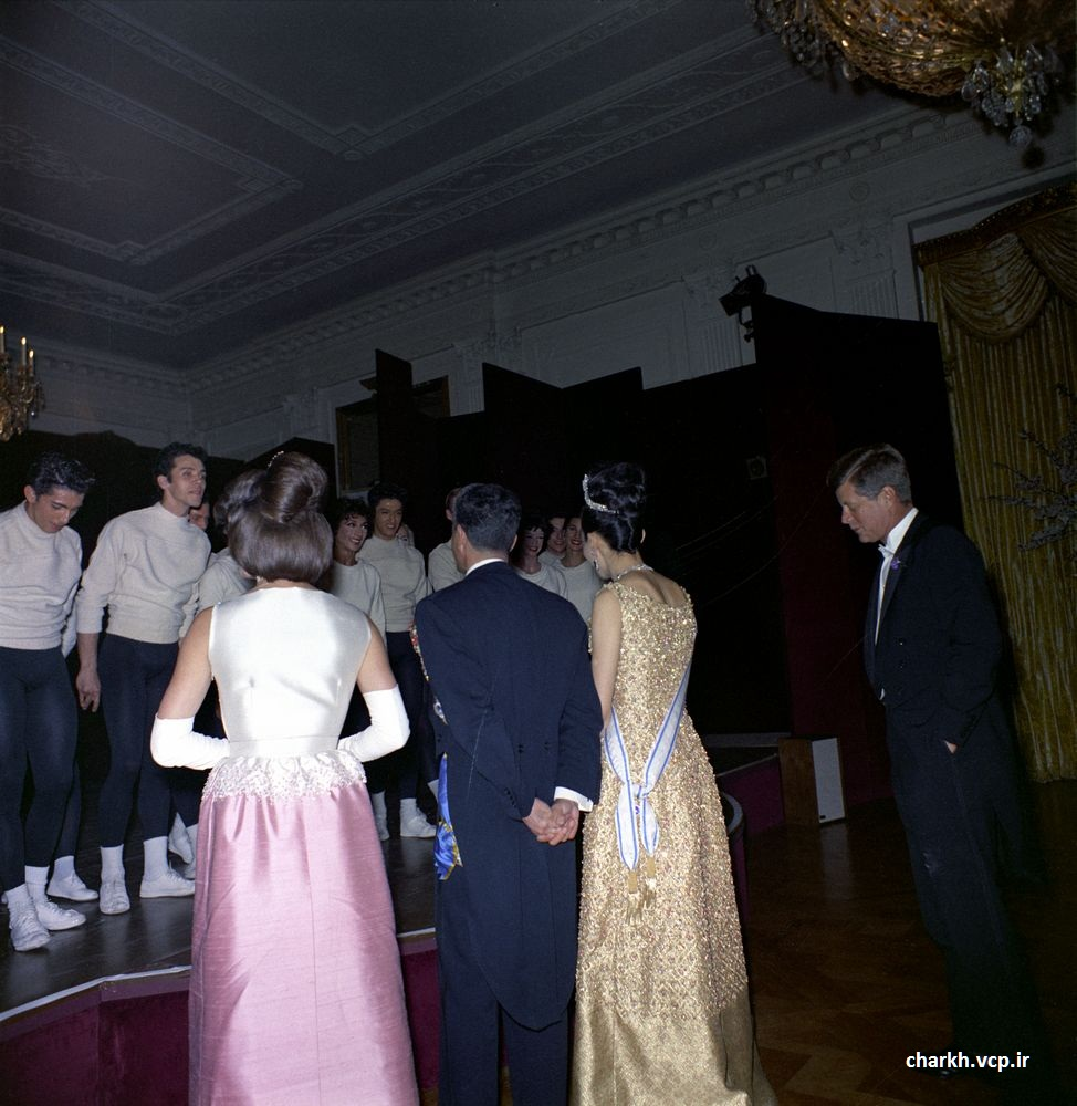 شاه و فرح در کاخ سفید