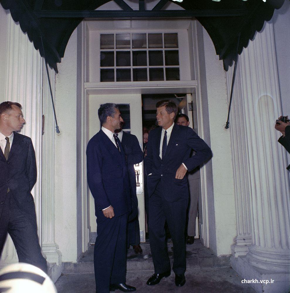 خداحافظی شاه و کندی آمریکا