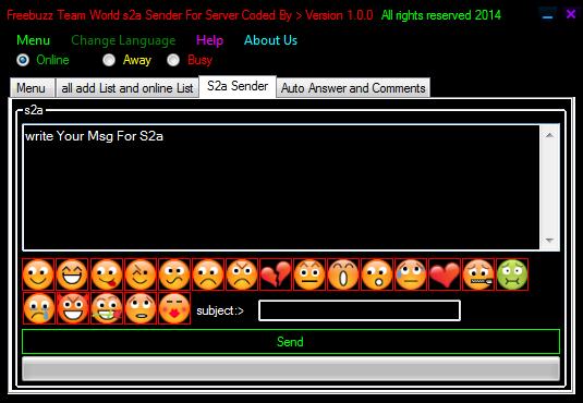 Freebuzz Team World s2a Sender For Server Version 1.0.0 022021315