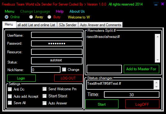 Freebuzz Team World s2a Sender For Server Version 1.0.0 0222222222222