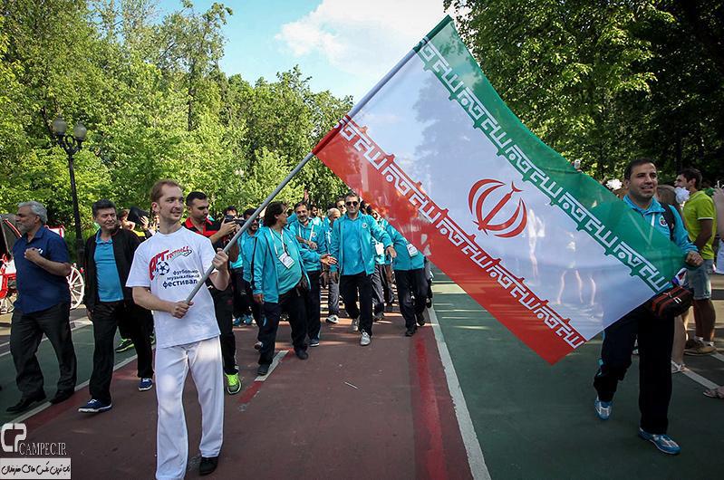 عکس های حضور کاروان تیم ملی فوتبال هنرمندان ایران در مسابقات جام جهانی روسیه