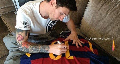 هدیه ویژه مسی به رونالدینیو + تصاویر , اخبار ورزشی