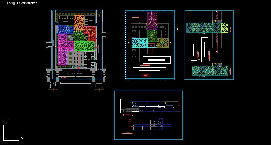 دانلود پلان  یک ساختمان تجاری-Zonificacion