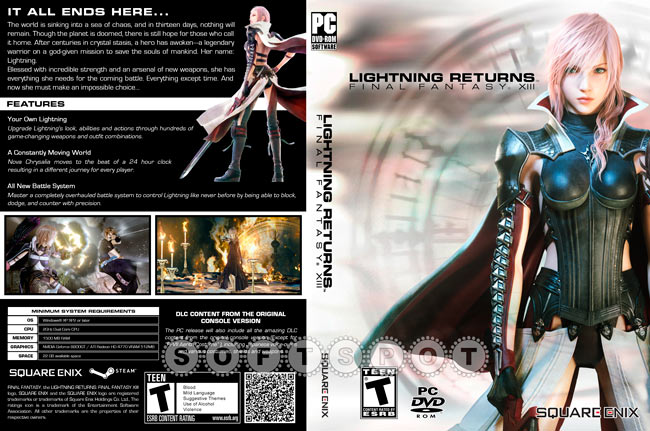 کاور بازی Lightning Returns: Final Fantasy XIII