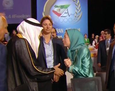 اعلام مرگ مسعود رجوی درست پس از شعارهای مریم عضدانلو و مدعوینش در ستایش رهبرشان