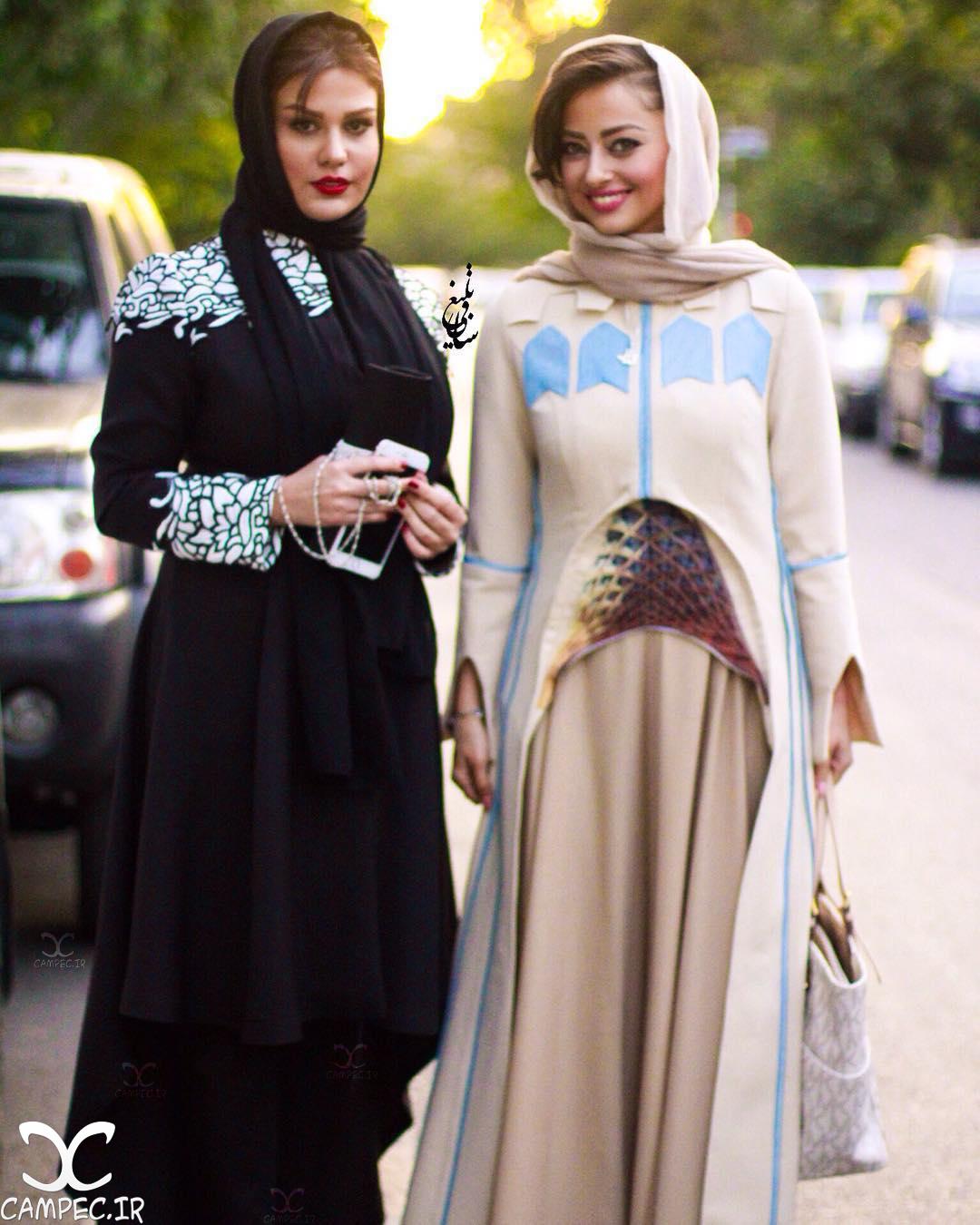 نفیسه روشن و رز رضوی در جشن حافظ