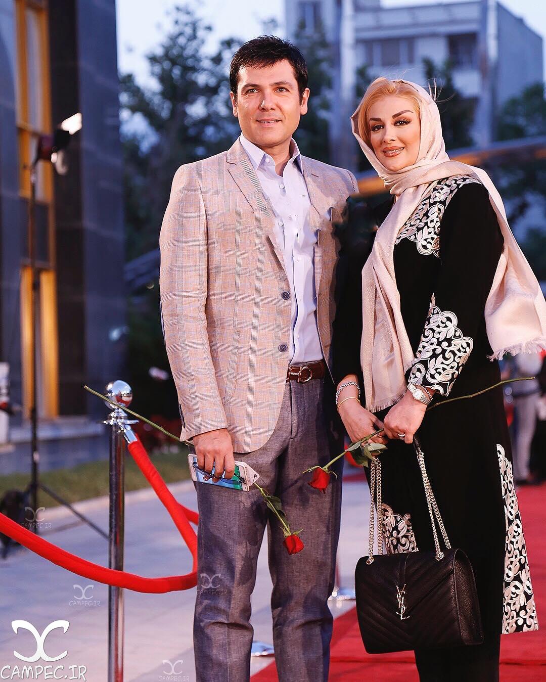 کورش تهامی با همسرش در جشن حافظ