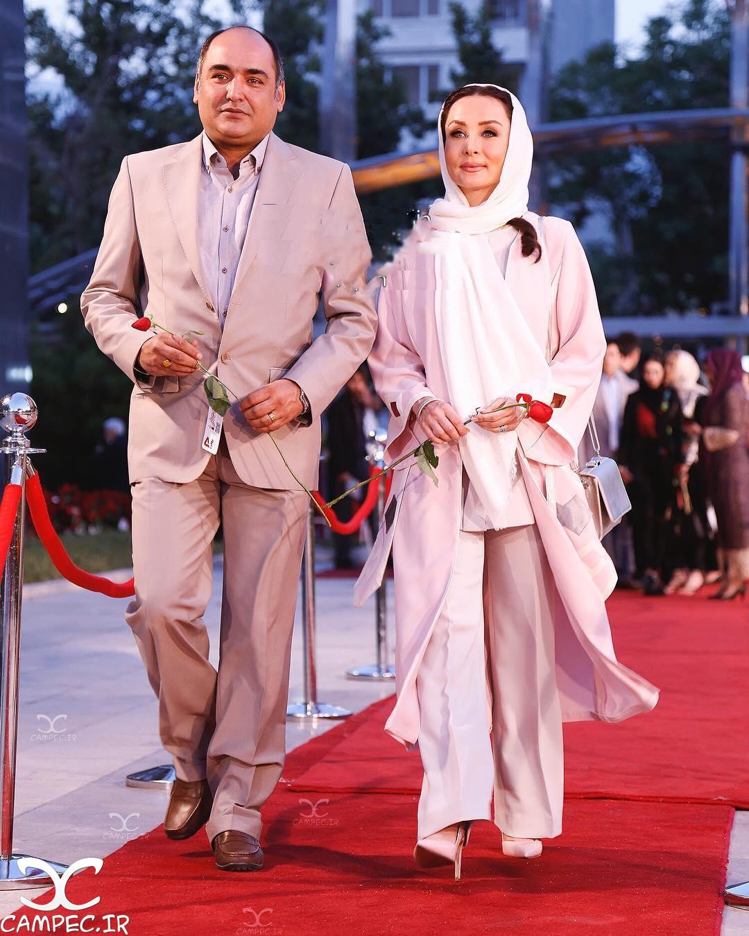 حدیث فولادوند با همسرش رامبد شکرآبی در جشن حافظ