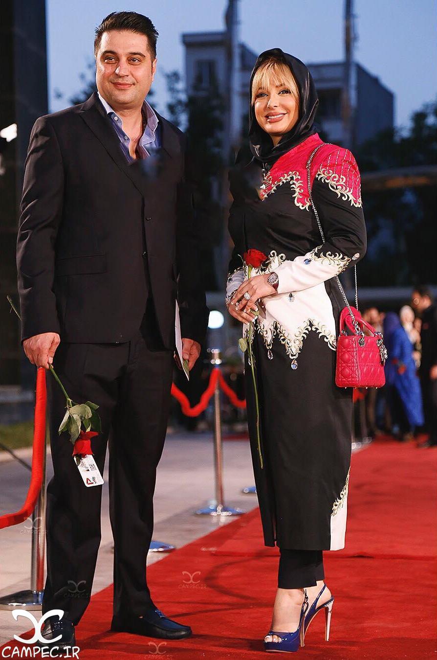 نیوشا ضیغمی با همسرش در جشن حافظ
