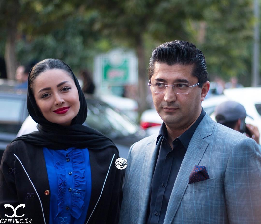 شیلا خداداد با همسرش در جشن حافظ