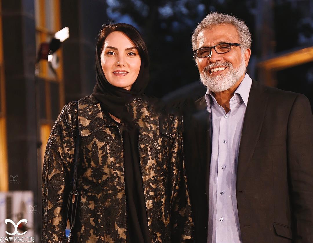 مرجان شیرمحمدی با همسرش بهروز افخمی در جشن حافظ